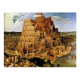 """Der Turm von Babel Pieter Bruegels """""""" (Circa 1563) Postkarte"""