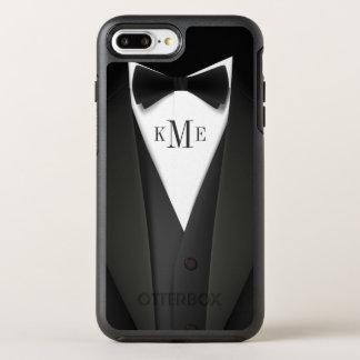 Der Tuxedo-Anzugs-Blick-Monogramm-Initialen der OtterBox Symmetry iPhone 8 Plus/7 Plus Hülle