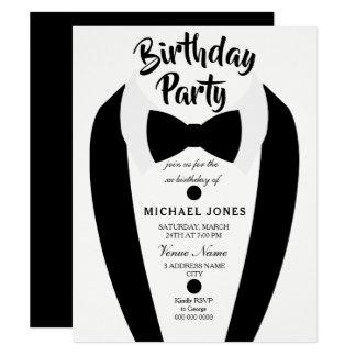 Der Tuxedo-Bogen-Krawatten-Geburtstags-Party aller Karte