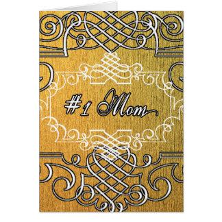 der Typografie-Mutter der Mammas #1 der goldene Karte
