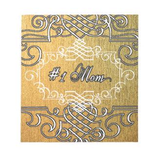 der Typografie-Mutter der Mammas #1 der goldene Notizblock