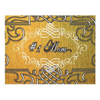 der Typografie-Mutter der Mammas #1 der goldene Postkarte