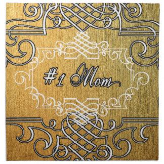 der Typografie-Mutter der Mammas #1 der goldene Serviette