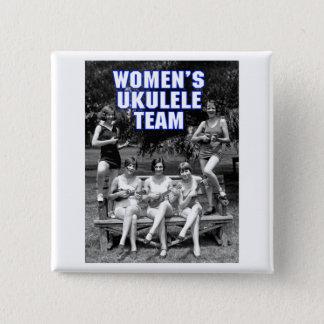 Der Uke der Frau Team-Knopf Quadratischer Button 5,1 Cm