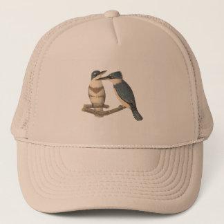 Der umgeschnallte Eisvogel (Alcedo alcyon) Truckerkappe