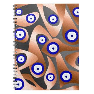 Der unbekannte böse Blick Spiral Notizblock