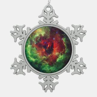 Der unicorns-Rosen-Rosette-Nebelfleck Schneeflocken Zinn-Ornament