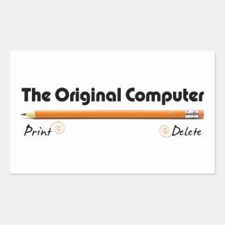 Der ursprüngliche Computer Rechteckiger Aufkleber