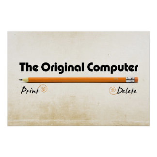 Der ursprüngliche Computer Poster