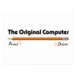 Der ursprüngliche Computer Postkarte