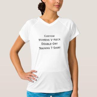 Der V-Hals der kundenspezifischen Frauen T-Shirt
