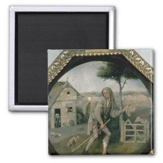 Der Vagabund/der verschwenderische Sohn, c.1510 Quadratischer Magnet