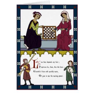 """Der Valentinsgruß der Schach-Liebhaber (""""Braun"""" Karte"""