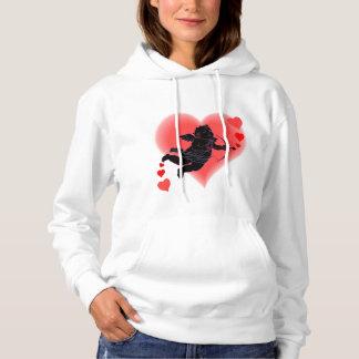 Der Valentinsgruß-Kapuzenpulli-Amor-Sweatshirt der Hoodie