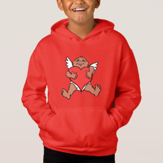 Der Valentinsgruß-Kapuzenpulli-rosa Hoodie