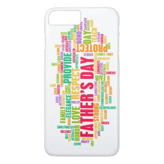 Der Vatertag als spezieller Tag mit Wörtern iPhone 8 Plus/7 Plus Hülle