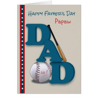 Der Vatertag für Vati Papaya-Frucht Baseball-No.1 Karte
