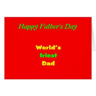 Der Vatertag Karte