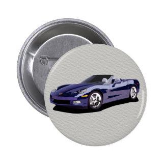 Der Vatertags-blaues konvertierbares Sport-Auto Runder Button 5,7 Cm