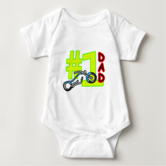Der Vatertags-Chopper-Vati #1 das MUSEUM Zazzle Baby Strampler