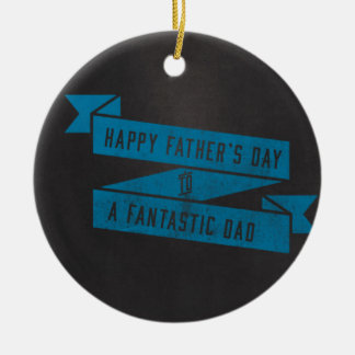 Der Vatertags-fantastische Tagesblau-Tafel Rundes Keramik Ornament