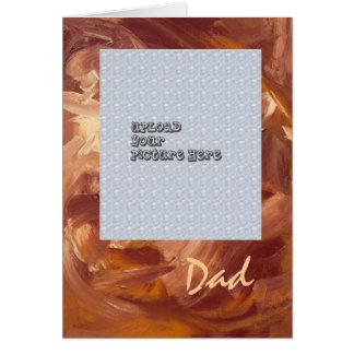 Der Vatertags-Foto-Karten-Schablone Karte
