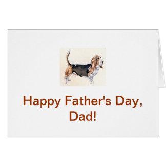 Der Vatertags-Karte Basset Hound- Karte