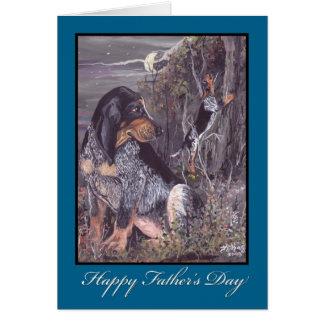 Der Vatertags-Karte Bluetick Coonhound- Karte