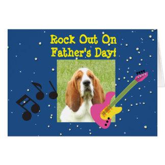 Der Vatertags-Karte mit Basset Hound Karte