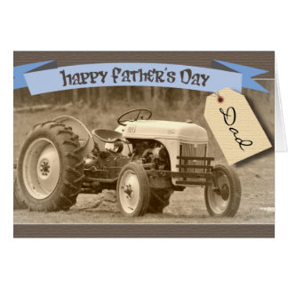 Der Vatertags-Karte mit Traktor Karte