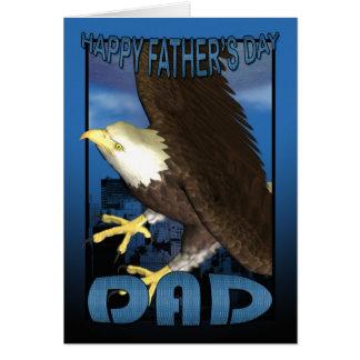 Der Vatertags-Karten-Amerikaner-Weißkopfseeadler Grußkarte