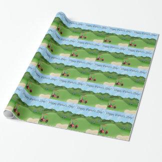 Der Vatertags-Packpapier Golf spielendes Geschenkpapier