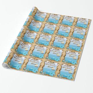 Der Vatertags-Packpapier Segelboot- Geschenkpapier