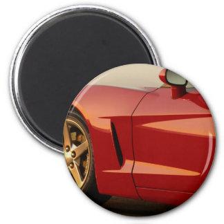 Der Vatertags-Rot Korvette Runder Magnet 5,7 Cm
