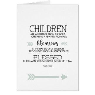 Der Vatertags-Schrifts-Vers mit Pfeilen Karte