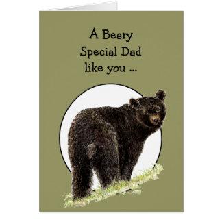Der Vatertags-Spaß Bärn-für Beary Special-Vati Karte
