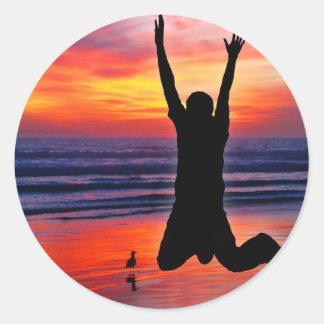 Der Vatertags-Strand-Sprung Spaß- Sticker