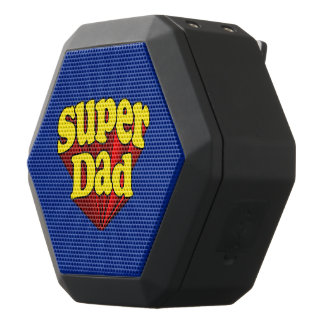 Der Vatertags-Superheld Supervati-roter gelber Schwarze Bluetooth Lautsprecher