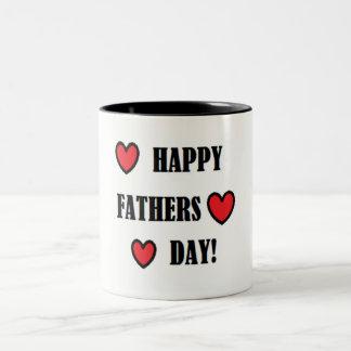 Der Vatertags-Tasse Zweifarbige Tasse