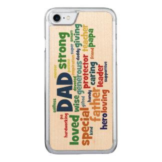 Der Vatertags-Typografie Vati-Wort-Wolken-Text- Carved iPhone 8/7 Hülle