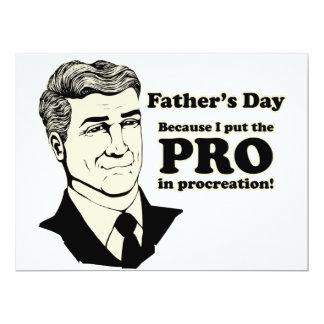 Der Vatertags-Zeugung 16,5 X 22,2 Cm Einladungskarte