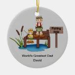 Der Vati-Weihnachtsverzierung der Welt bestste Ornament