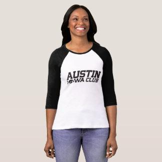 Der Verein-Frau Austins Iowa der Baseball-Shirt T-Shirt