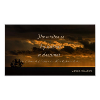 Der Verfasser ist ein bewusstes Träumerzitat Poster