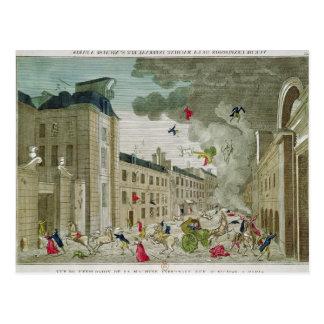 Der versuchte Mord von Napoleon Bonaparte Postkarte