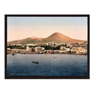 Der Vesuv, mit Torre de Creco, Neapel, Italien Postkarte