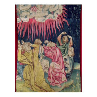Der vierte Engel goss heraus seine Schüssel auf Postkarte