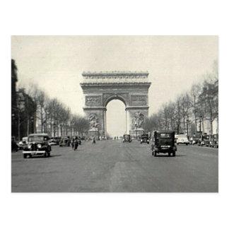Der Vintage Arc de Triomphe Frankreich Postkarte
