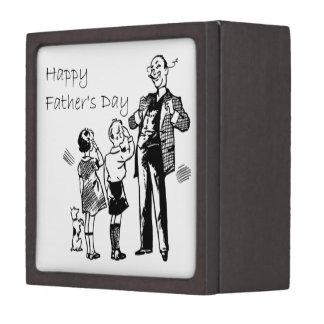 Der Vintage glückliche Vatertag Schachtel