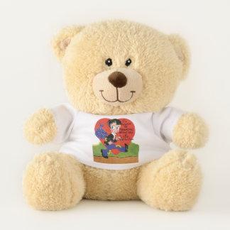 Der Vintage niedliche Tag des Valentines, Teddybär